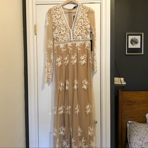 F21 maxi dress / For love & lemons dupe